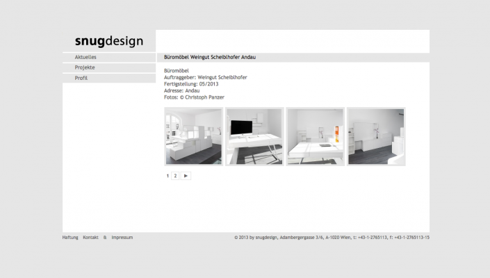 Snugdesign Website