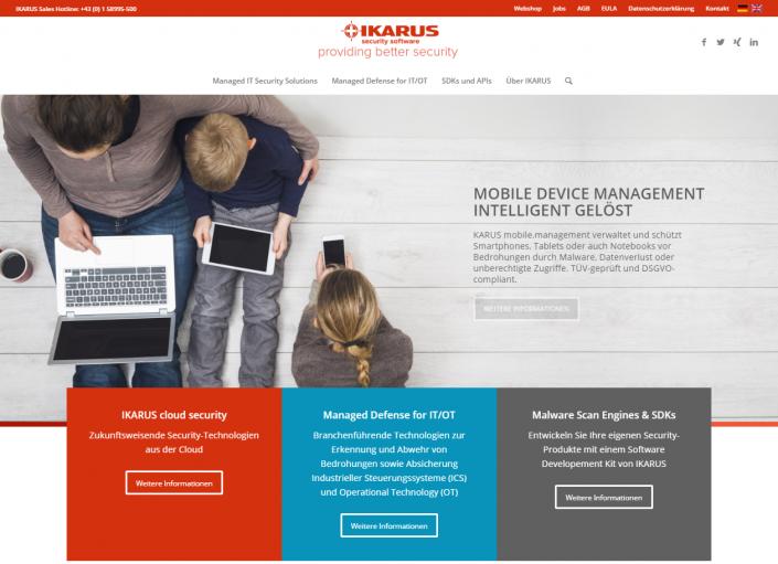 IKARUS Website